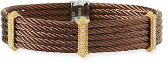 Alor Petra Stacked Cable Bangle w/ Diamonds