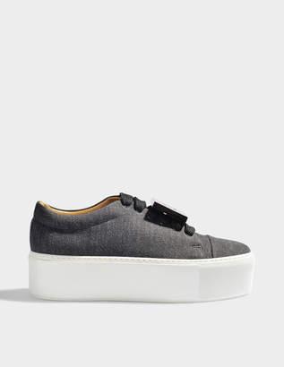 Acne Studios Drihanna denim platform sneakers