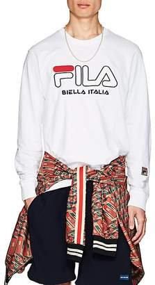 Fila Men's Embroidered Cotton Long-Sleeve T-Shirt