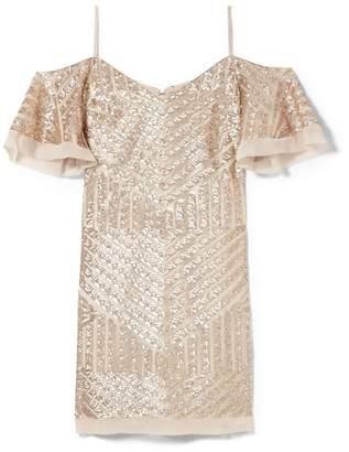 Vince Camuto Sequin Cold-shoulder Dress
