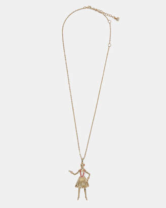 Ted Baker BETZY Hula girl pendant necklace