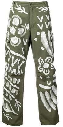 Puma Maison Yasuhiro painted straight-cut jeans