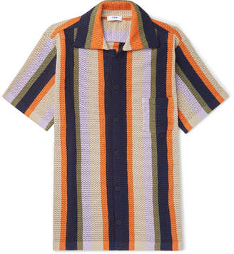 Cmmn Swdn Wes Striped Knitted Cotton Shirt