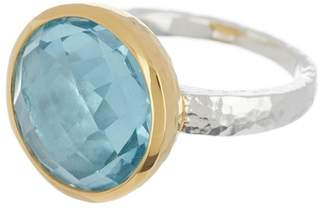 Gurhan Two-Tone Blue Topaz Galapagos Ring - Size 6