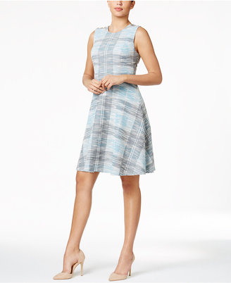 Tommy Hilfiger Tweed A-Line Dress $129 thestylecure.com