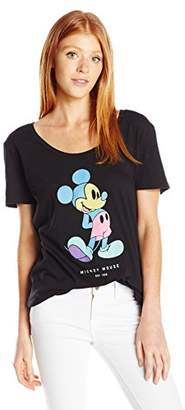 Disney Women's Pastel Mickey Jrs Tee $12.39 thestylecure.com
