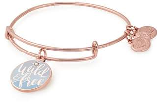 Alex and Ani Color Infusion Words Are Powerful Wild & Free Charm Expandable Wire Bracelet