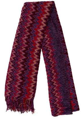 Missoni Patterned Fringe-Trimmed Scarf