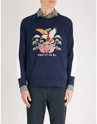 Polo Ralph Lauren Eagle motif jersey sweatshirt