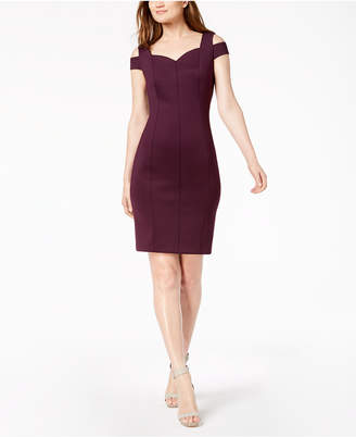 Calvin Klein Go Red Cold-Shoulder Sheath Dress