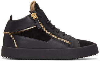 Giuseppe Zanotti Black Zipper May London High-Top Sneakers