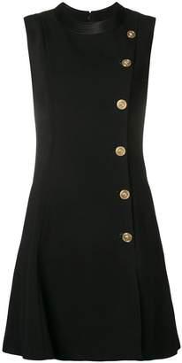 Versace asymmetric buttoned dress