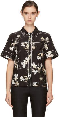 Erdem Black and Ecru Liana Shirt