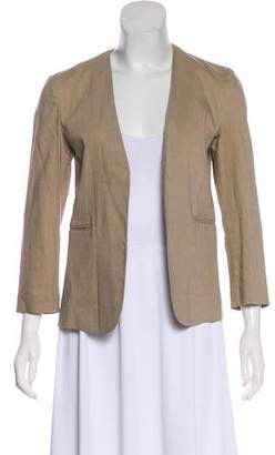 Theory Collarless Open Front Blazer