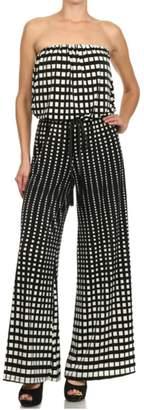 Ariella Strapless Printed Jumpsuit