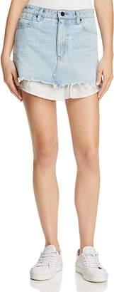 T by Alexander Wang Shirttail Denim Skirt $295 thestylecure.com