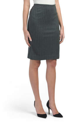 Clean Front Vertical Pin Stripe Skirt