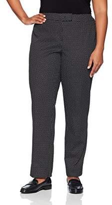 Anne Klein Women's Plus Size Cotton Pique Pant