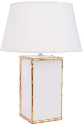 Dana Gibson Bamboo Table Lamp - White