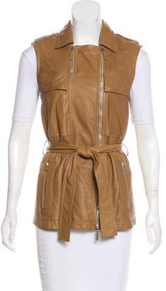 Gucci Sleeveless Leather Vest w/ Tags