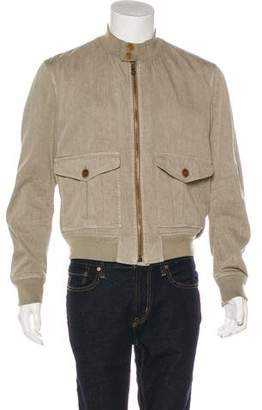 Burberry Linen Bomber Jacket