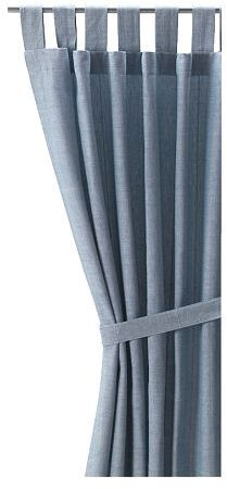 Lenda Pair Of Curtains With Tie-backs