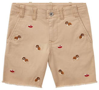 Ralph Lauren Embroidered Straight Fit Stretch Shorts