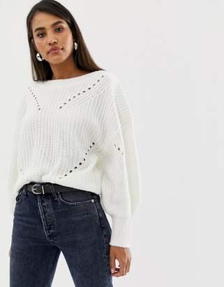 Vila balloon sleeve sweater