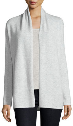 Neiman Marcus Cashmere Collection Modern Open Cashmere Cardigan $250 thestylecure.com