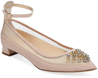Jerome C. Rousseau Carat Studded Leather Flat