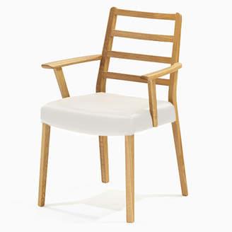 IDC OTSUKA/大塚家具 椅子 シネマ(肘付) Aタイプ レッドオーク材/WO色 PVCアイボリー