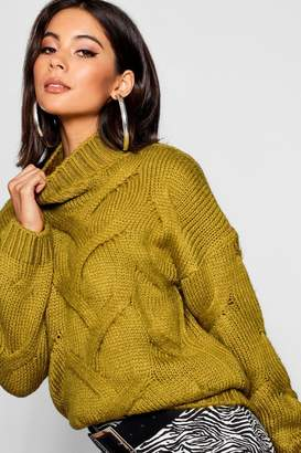 boohoo Soft Knit Cable Jumper