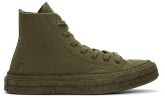J.W.Anderson Khaki Converse Edition Felt Chuck 70 Hi Sneakers