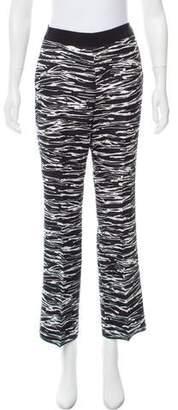 Giambattista Valli Mid-Rise Zebra Pants