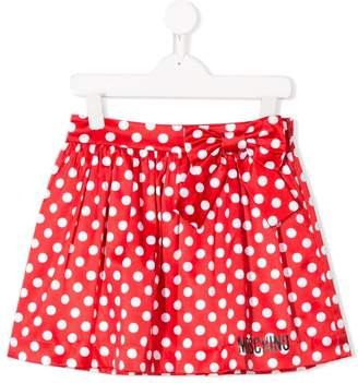 Moschino Kids polka-dot flared skirt