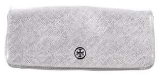 Tory Burch Metallic Robinson Flap Clutch