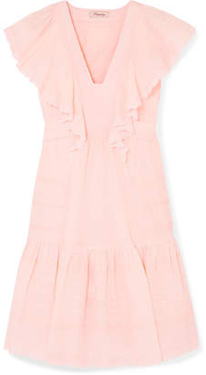 Temperley London Beaux Broderie Anglaise Cotton Dress - Pink