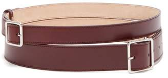 Alexander McQueen Double Wrap Leather Belt - Womens - Burgundy