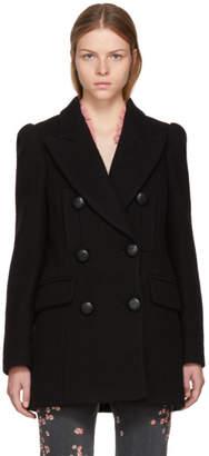 Isabel Marant Black Short Lea Coat
