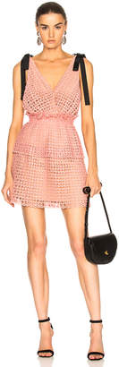 Self-Portrait Self Portrait Cutwork Mini Dress in Pink | FWRD