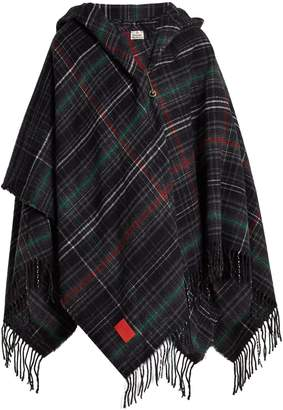 VIVIENNE WESTWOOD ANGLOMANIA Tassel-trimmed checked poncho