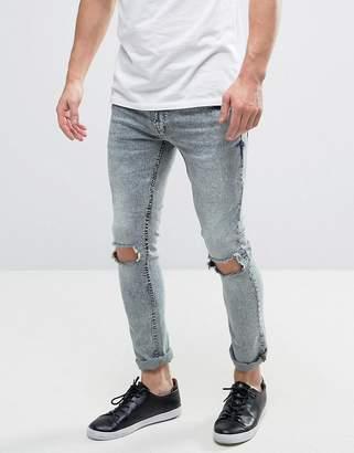 Brave Soul Mid Wash Skinny Jeans