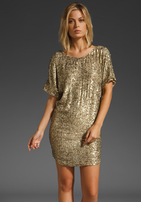Vince Pure Gold Sequin Dress