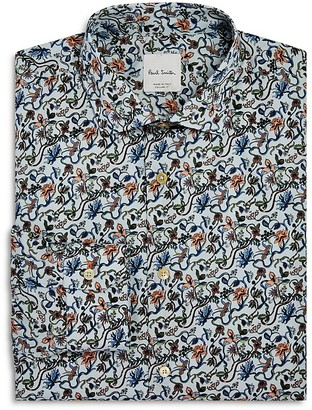 Paul Smith Twisted Floral Slim Fit Dress Shirt $225 thestylecure.com