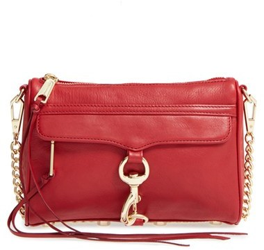Rebecca Minkoff Mini Mac Convertible Crossbody Bag Red