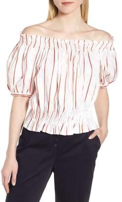 Lewit Puff Sleeve Stripe Top
