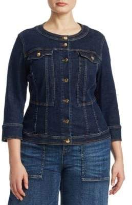 Marina Rinaldi Ashley Graham x Canberra Super Stretch Denim Jacket