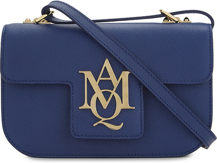 Alexander McQueenAlexander Mcqueen AMQ insignia leather satchel