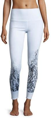 Alo Yoga High-Waist Airbrush Leggings, Winter Landscape $102 thestylecure.com