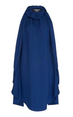 Calvin Klein Draped Cady Halter Dress
